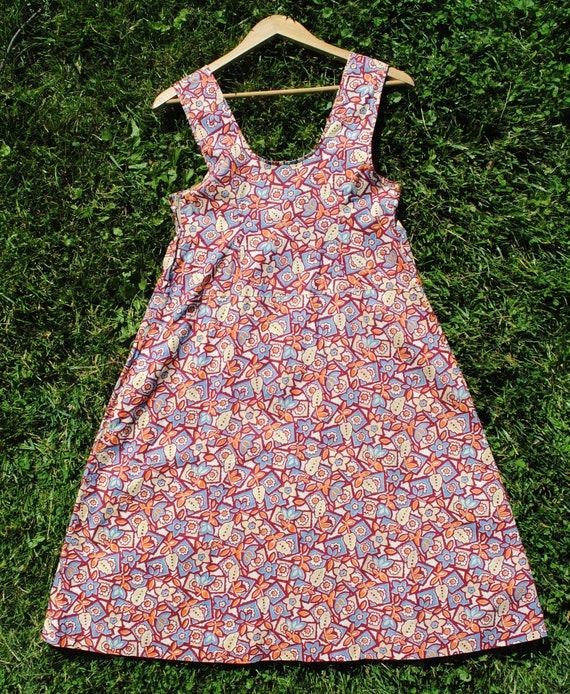 30s Cotton Jumper Dress - Vintage 1930s Sleeveles… - image 3