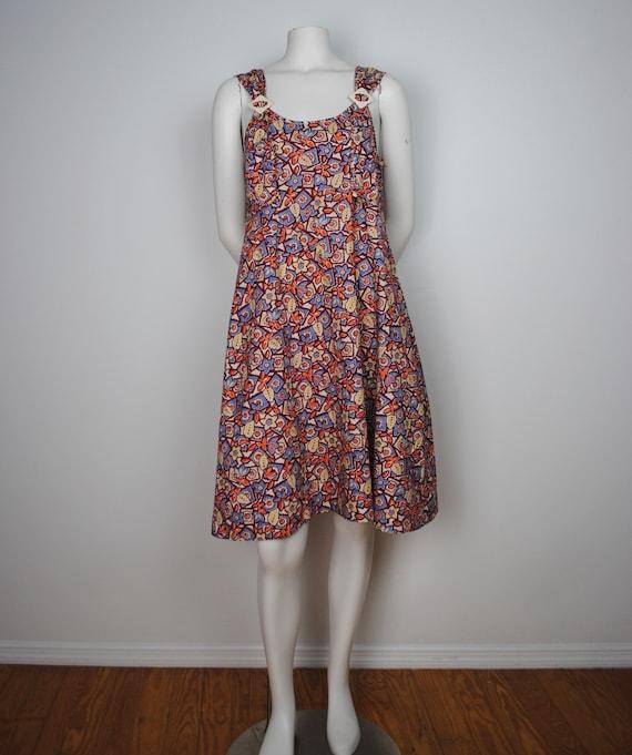 30s Cotton Jumper Dress - Vintage 1930s Sleeveles… - image 4