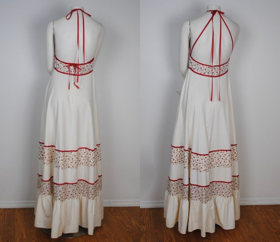 70s Gunne Sax Dress - Rare 1970s Halter Gunne Sax… - image 8