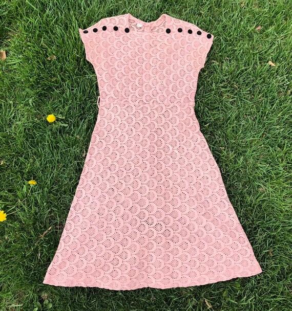 40s Spiderweb Lace Dress - Vintage 1930s 1940s Dus