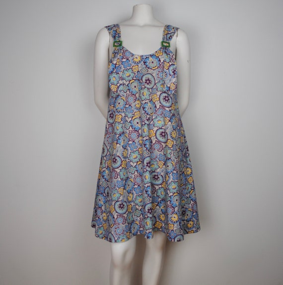 30s Feedsack Jumper Dress - Vintage 1930s Sleevele