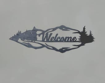 Welcome Word Design Wall Art