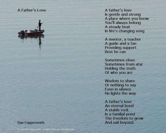 Väter Tag Gedicht Liebe Des Vaters Väter Tag Poesie Vatertagsgeschenk Angeln Kunstdruck Für Papa Digitaler Download