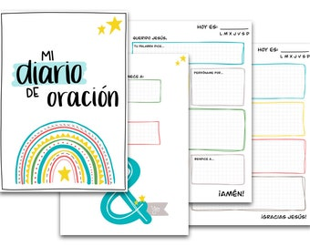 Prayer journal for kids - PDF (digital) - SPANISH