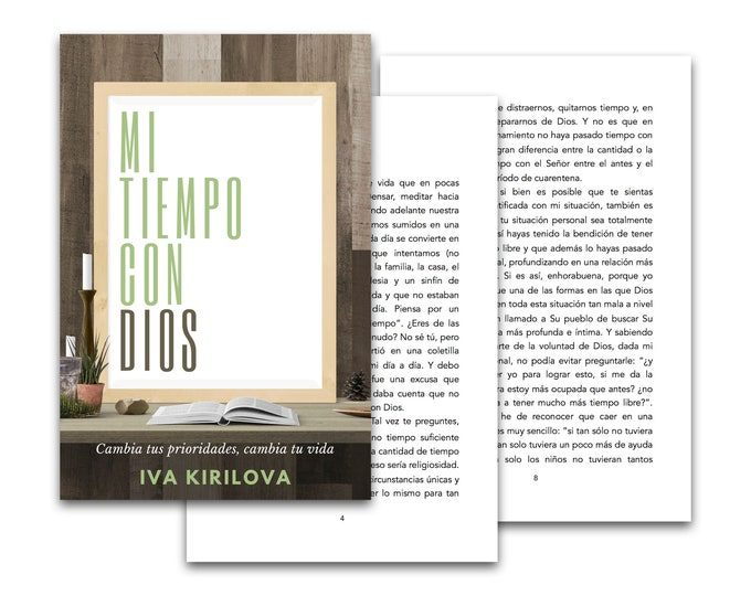 """Featured listing image: eBook """"My time with God"""" (only text) (Spanish)"""