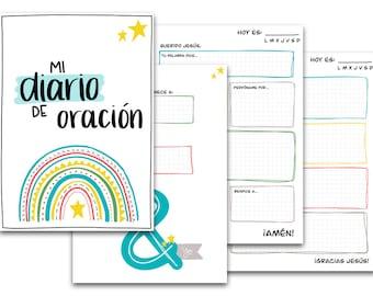 Prayer journal for kids - PDF (digital) - SPANISH