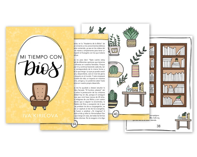 """Featured listing image: eBook """"My time with God"""" (text + designs) (Spanish)"""