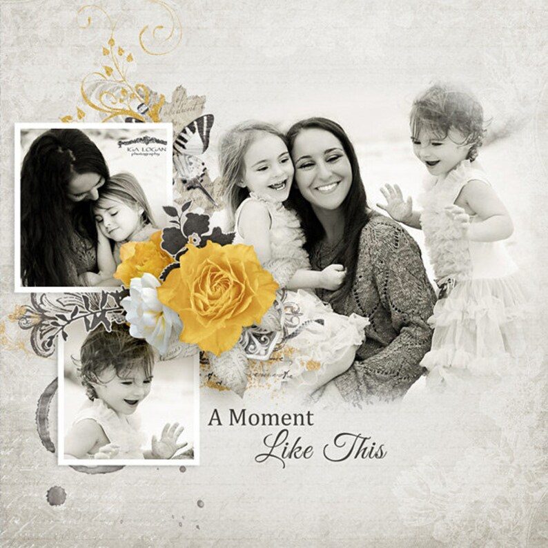 A Moment Like This Photo Mask Templates - Digital Scrapbook Template with  Photo Mask, D039 - INSTANT DOWNLOAD