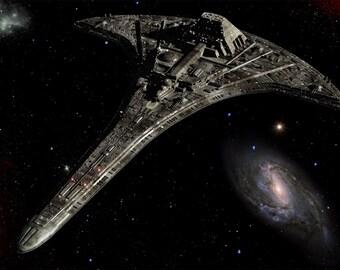 Stargate Universe Digital Art  Glossy Print  'Destiny'