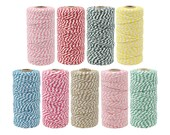Just Artifacts Striped Bakers Twine 110yd 12Ply - Decorative Bakers Twine for DIY Crafts and Gift Wrapping