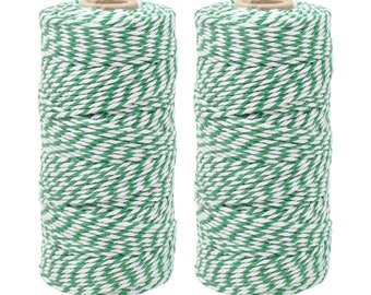 Decorative Bakers Twine for DIY Crafts and Gift Wrapping Just Artifacts ECO Bakers Twine 240-Yards 4Ply Striped Teal