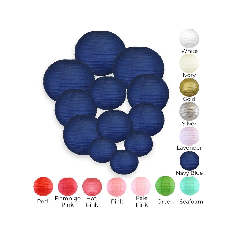 Just Artifacts Decorative Tissue Paper Honeycomb Balls 12pcs Assorted Size Color: Azure Blue