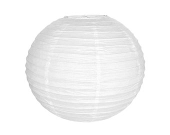 "16"" White Paper Lantern Party Decoration  - Just Artifacts Brand - Item: RPL160089 - Paper Lanterns for Weddings, Parties, & Home Decor"