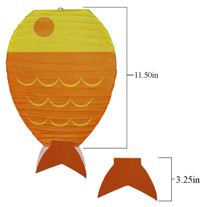 Fish Party Lantern Decorations Set of 3 Just Artifacts 12inch Fish Shaped Hanging Paper Lanterns