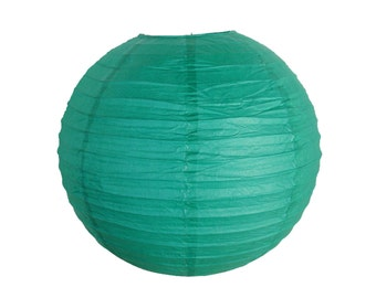 "16"" Teal Blue Green Paper Lantern Party Decoration - Just Artifacts - Item:RPL160088 - Paper Lanterns for Weddings, Parties, & Home Decor"