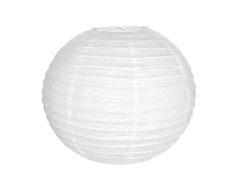 "14"" White Paper Lantern Party Decoration  - Just Artifacts Brand - Item: RPL140050 - Paper Lanterns for Weddings, Parties, & Home Decor"