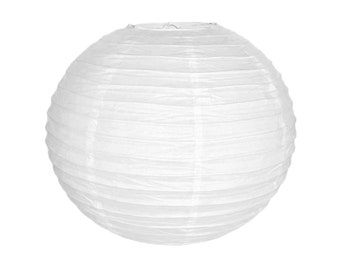 "18"" White Paper Lantern Party Decoration  - Just Artifacts Brand - Item: RPL180050 - Paper Lanterns for Weddings, Parties, & Home Decor"
