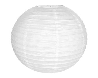 "20"" White Paper Lantern Party Decoration  - Just Artifacts Brand - Item: RPL200048 - Paper Lanterns for Weddings, Parties, & Home Decor"