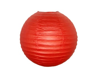 "12"" Dark Red Paper Lantern Party Decoration - Just Artifacts Brand - Item:RPL120049 - Paper Lanterns for Weddings, Parties, & Home Decor"