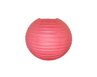 "8"" Hot Pink Paper Lantern Party Decoration - Just Artifacts Brand - Item:RPL080042 - Paper Lanterns for Weddings, Parties, & Home Decor"