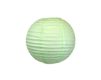 "8"" Mint Green Paper Lantern Party Decoration - Just Artifacts Brand - Item:RPL080044 - Paper Lanterns for Weddings, Parties, & Home Decor"