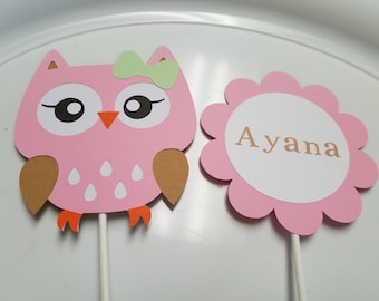 Owl Baby Shower Centerpiece Sticks Owl Baby Shower Owl Etsy