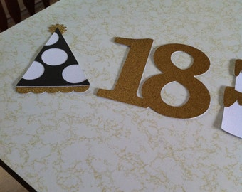 18th Birthday centerpiece, 18th birthday party, 18th birthday centerpiece, Happy 18th Birthday