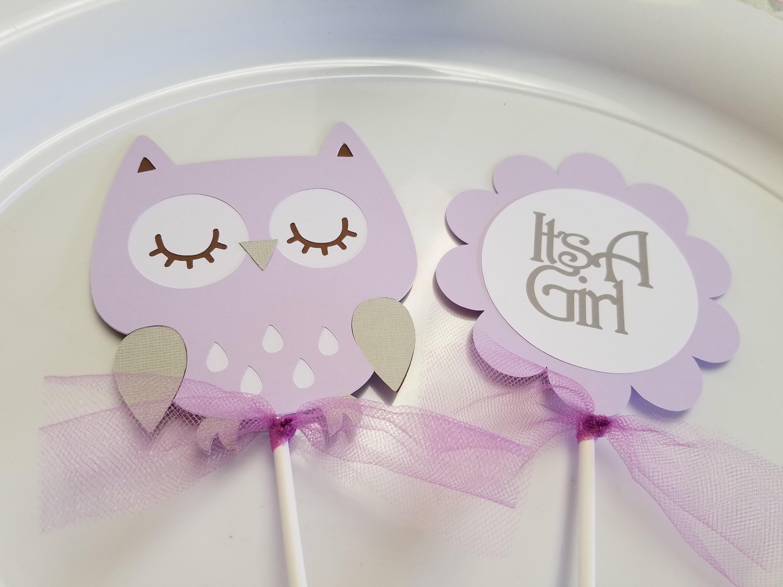 Swell Owl Baby Shower Centerpiece Sticks Owl Its A Girl Owl Centerpiece Owl Decorations Download Free Architecture Designs Scobabritishbridgeorg