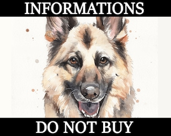 DO NOT BUY this listing - Custom pet portrait informations, availability and other common questions