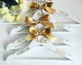 Personalised wedding hanger, bride hanger, bridesmaid hanger, mother-of-the-bride hanger, wedding dress hanger, wooden wedding hanger, perso