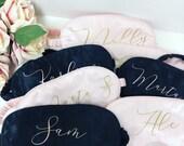 Personalised silk sleep eye mask, Bride gift, Bridesmaid Gift