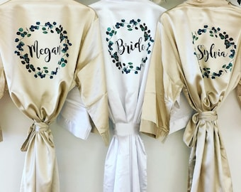 107e254471 EMERALD Silk bridal robes with greenery