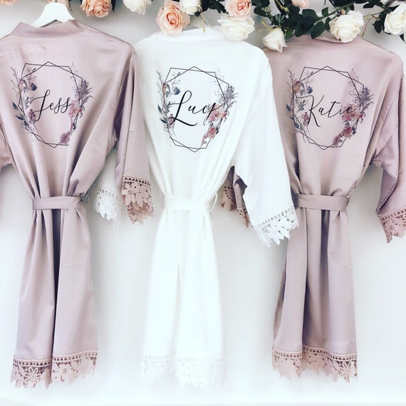 bridal wedding robe with lace arms and bottoms PEARL FLORENCE silk and lace bridal robes in standard and plus sizes and child sizes