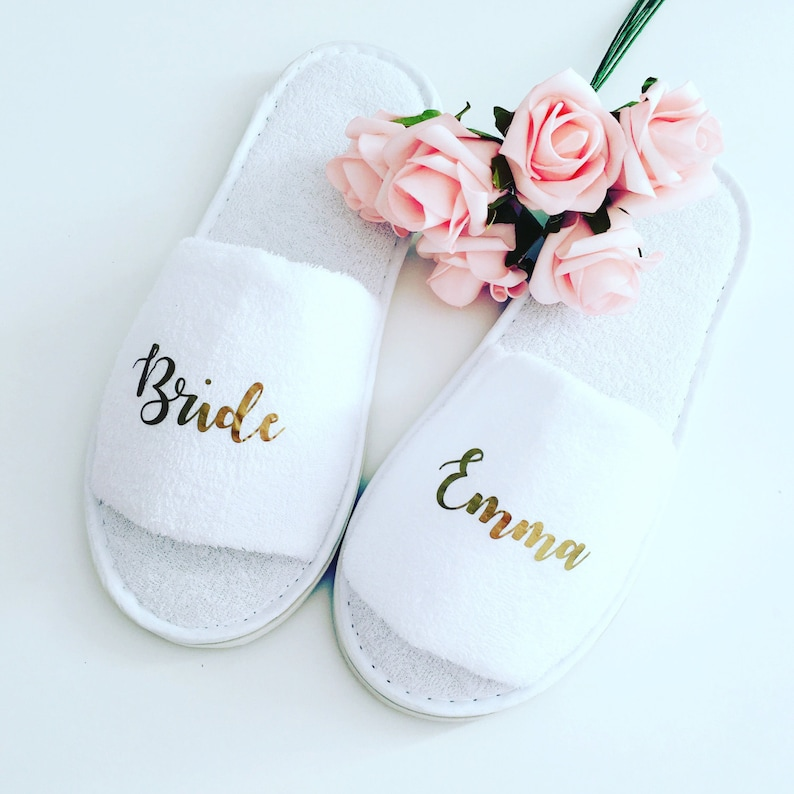 d8825d50e9c Personalised wedding slippers, bridal party slippers, bride slippers,  bridesmaid slippers, wedding slippers, bridal slippers, hen weekend