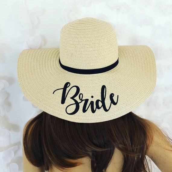 Personalised Bride Sun Hat Hen party straw hat bachelorette  96c1a8072ee