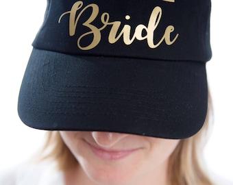 Set of 4 hen party hat, bachelorette party hat, Bride hat with Team Bride hats, bridal shower cap, bride cap, bridal cap