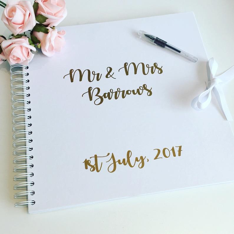 Wedding guest book wedding album wedding scrapbook memory image 0