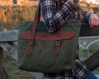 shoulder bag school leather tote bag waxed canvas bag for women handbag canvas tote bag large tote canvas leather bag travel bag for woman