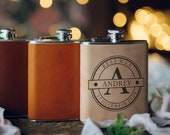 custom leather flask for men personalized flask for men leather hip flask groomsmen flask set best man flask personalised hip flask