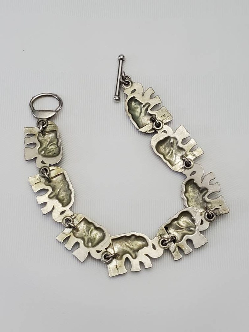 Elephant Link Toggle Bracelet Walking Elephant