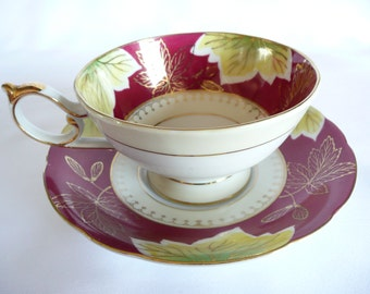 Shafford Tea Cup and Saucer Made in Japan