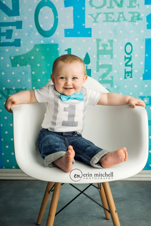 Boys First Birthday Outfit Baby Boy Clothes Grey Chevron