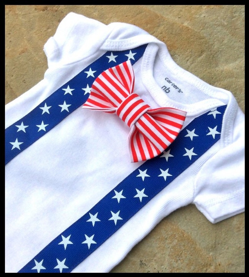 eb36f37ea Baby Boy 4th of July Outfit First Fourth of July Outfit | Etsy