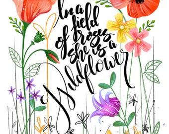 She is a Wildflower DIGITAL DOWNLOAD