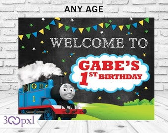 Thomas Birthday Banner Poster Train Party Decorations