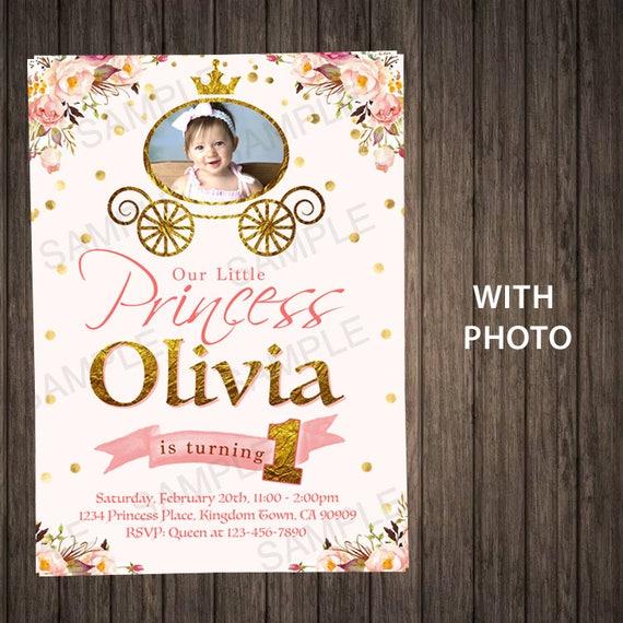 Little Princess Birthday Invitation First Royal