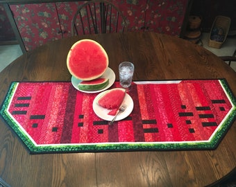 One In A Melon Quilt Pattern Wall Hanging Morse Code Watermelon