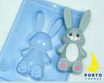 Bunny Sitting Small Chocolate Sucker Easter Bunny Pop Mould Rabbit Mould
