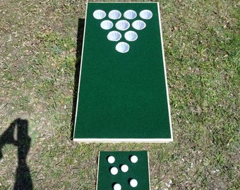 The REAL Beer Pong Golfhole- (Single board=half set) - Cornhole Golf and Beer Pong in one!  Best Quality, made in the U.S.A. - Not China