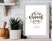 My cup runneth over / Scripture Prints / Bible Verse Prints / Scripture wall art / Bible verse wall art
